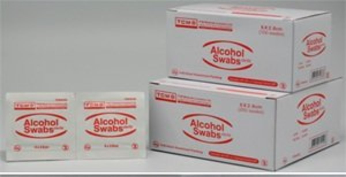 TWO BOXES OF TCM ALCOHOL SWABS 70%