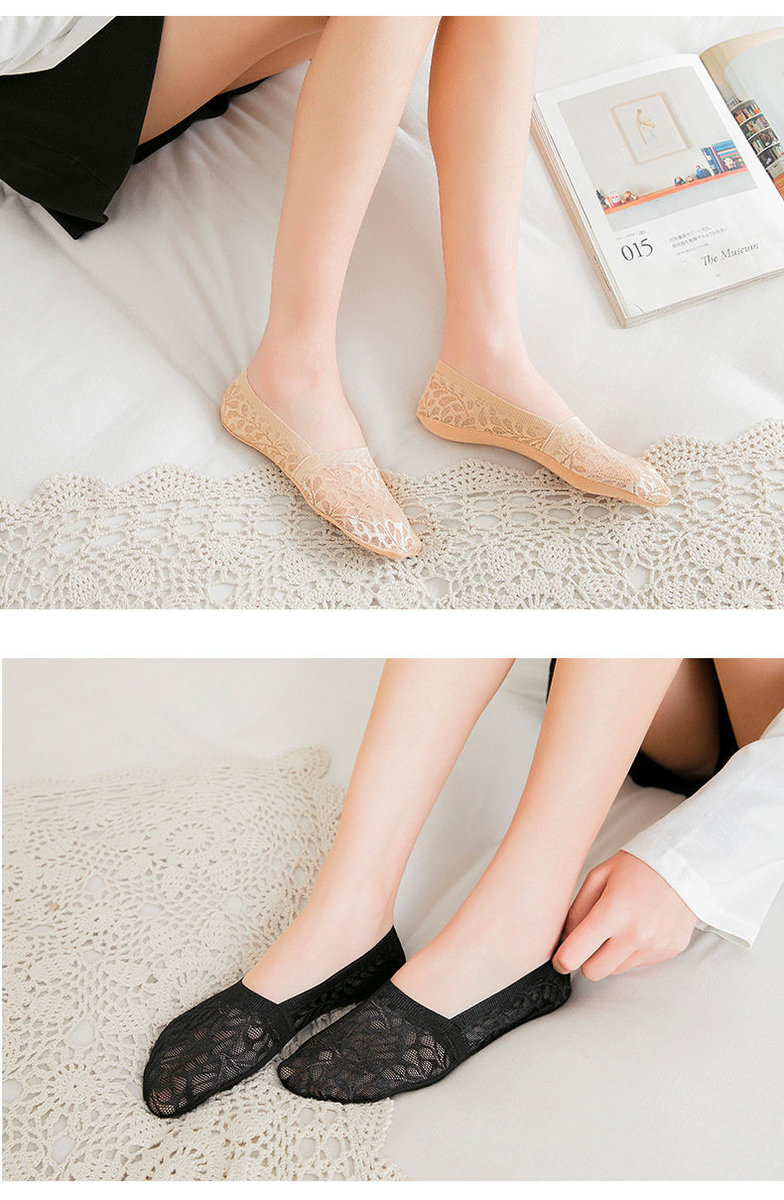 2020 New Korea Style 3D Pattern Ladies Sock x 4pcs - Black