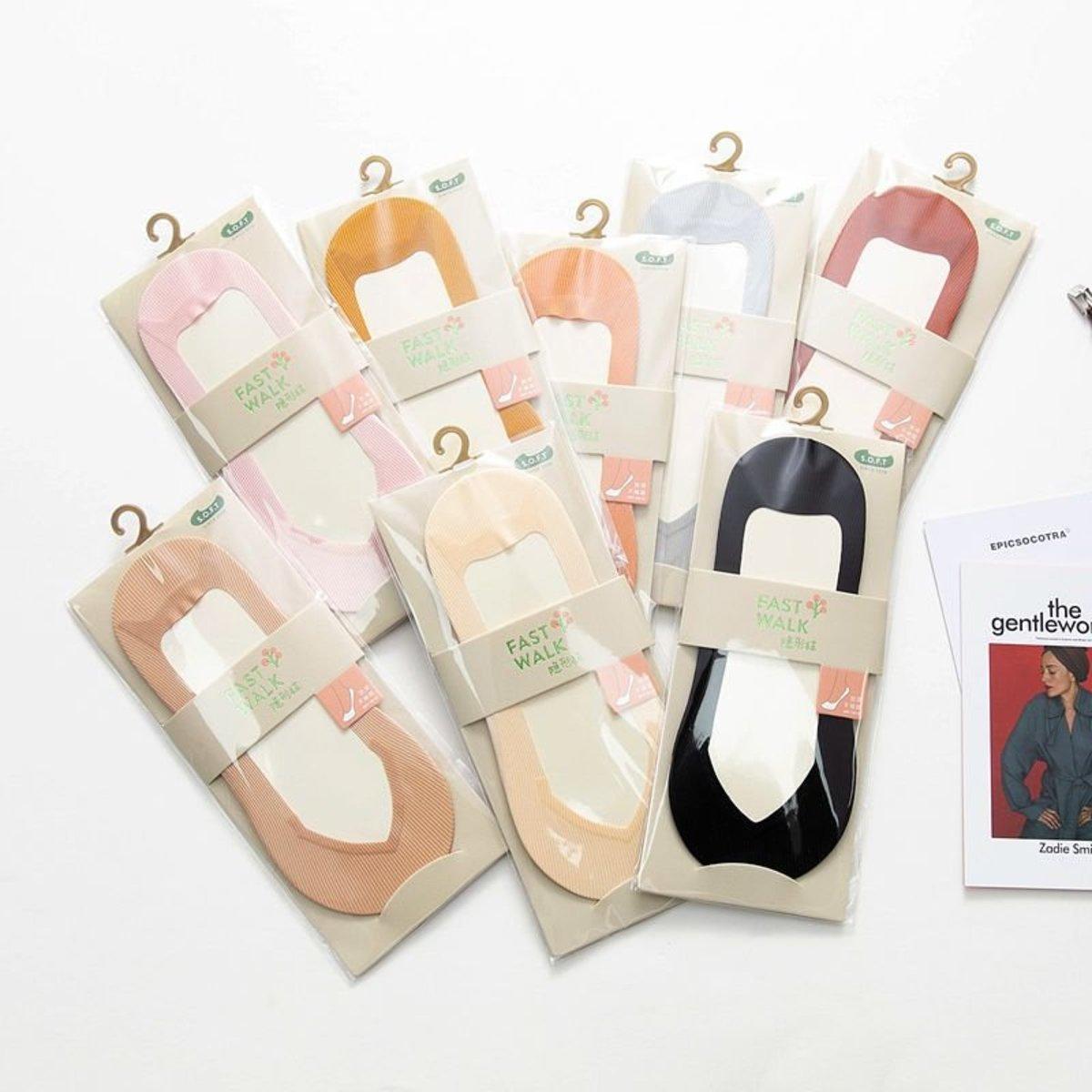 2020 Korea Style Ladies V Shape Comfort Socks - Black Color