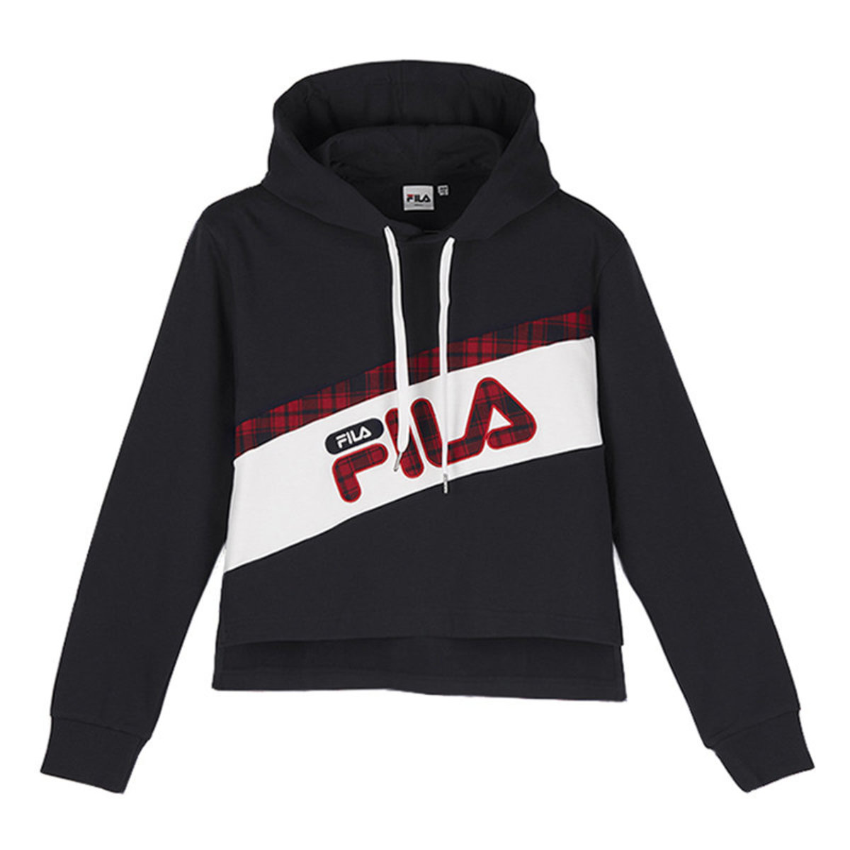 Korea Collection Cropped Colour Block Hoodie