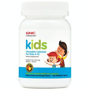 GNC 兒童鈣咀嚼片60片 (兒童4-12歲) (平行進口)(EXP:11/2022)
