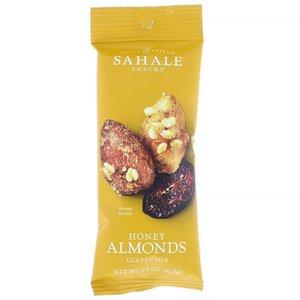 Sahale Snacks 蜂蜜杏仁 42.5克 健康果仁零食 含杏仁蔓越莓乾芝麻 非轉基因無防腐劑(EXP:12/2021)