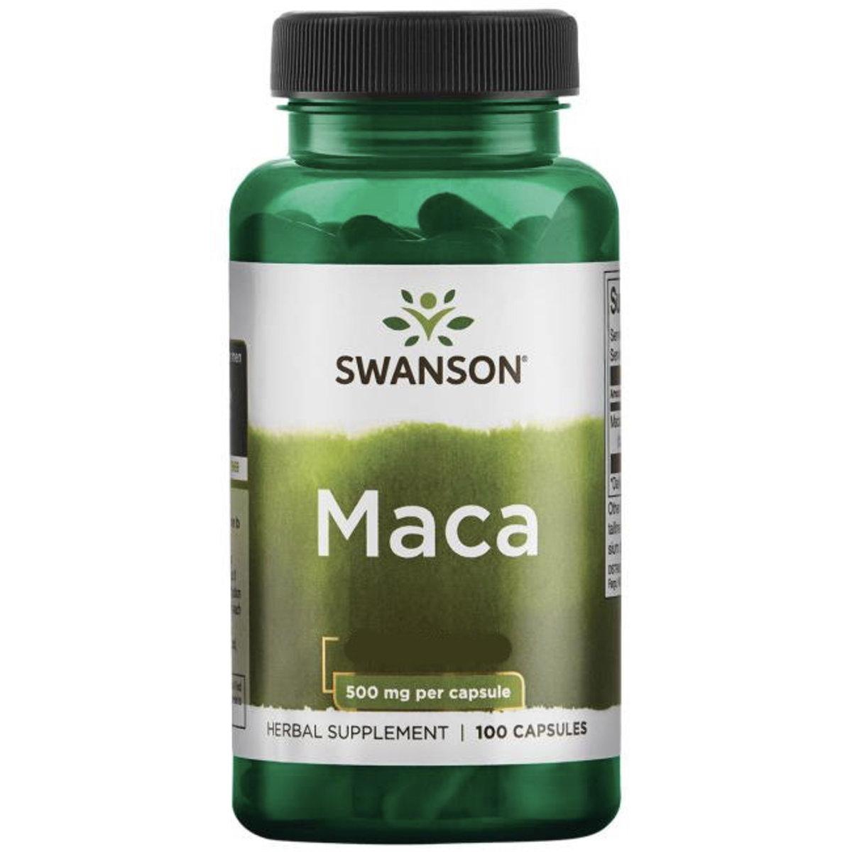 Swanson maca 500mg 100 capsules (EXP: 10/2020)