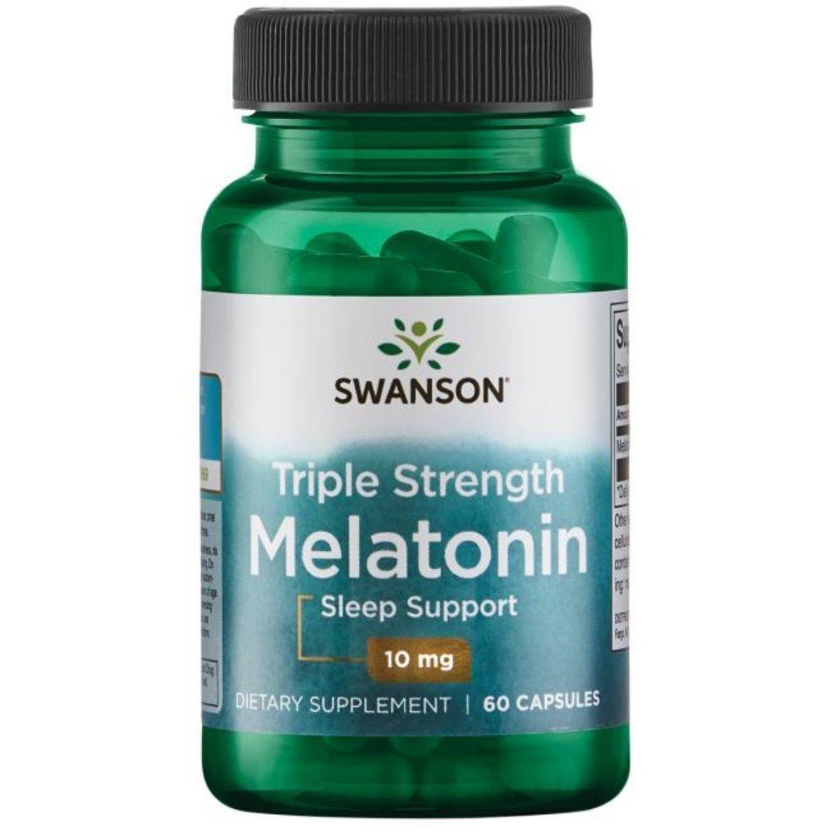 Swanson Triple Strength Melatonin 10mg 60 Capsules  (EXP: 06/2021)
