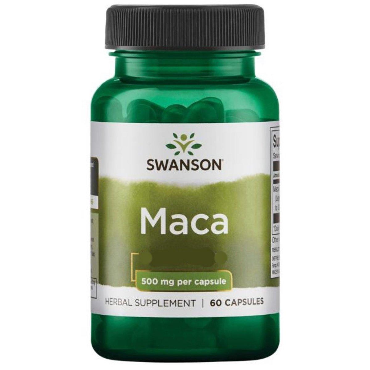 Swanson Passion Maca 500mg 60 capsules (EXP: 09/2021)