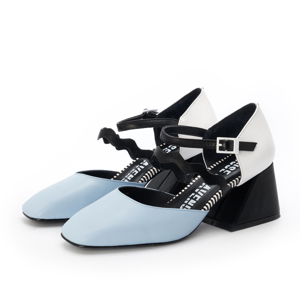 HOUSE OF AVENUES - POWER POSE ANKLE STRAP PUMP - LIGHT BLUE - 5266