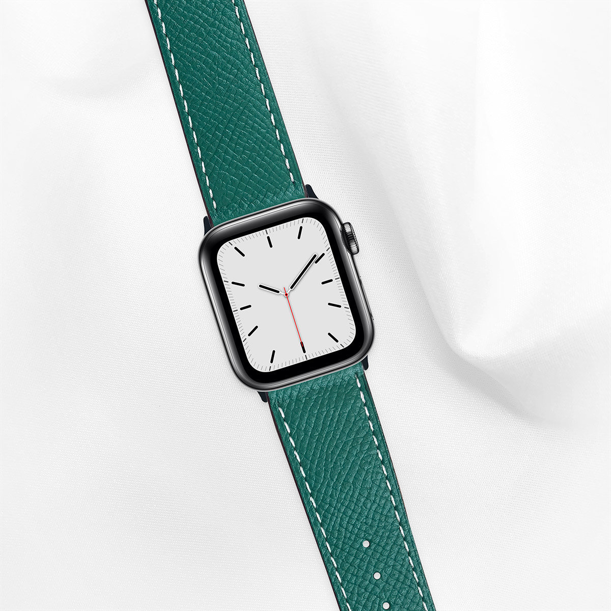 40mm Apple Watch Strap, Epsom Leather, Ultramarine Green