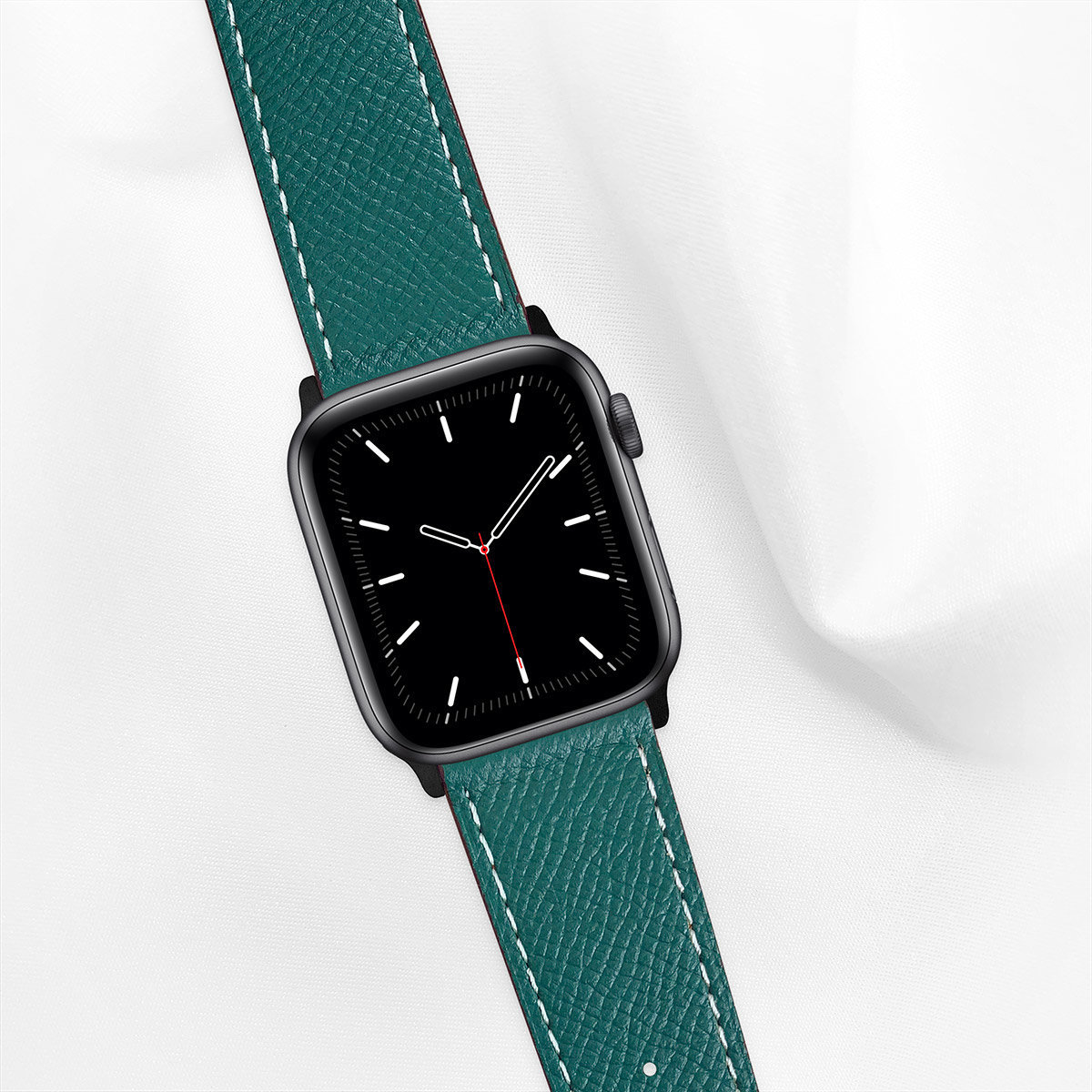 44mm Apple Watch Strap, Epsom Leather, Ultramarine Green