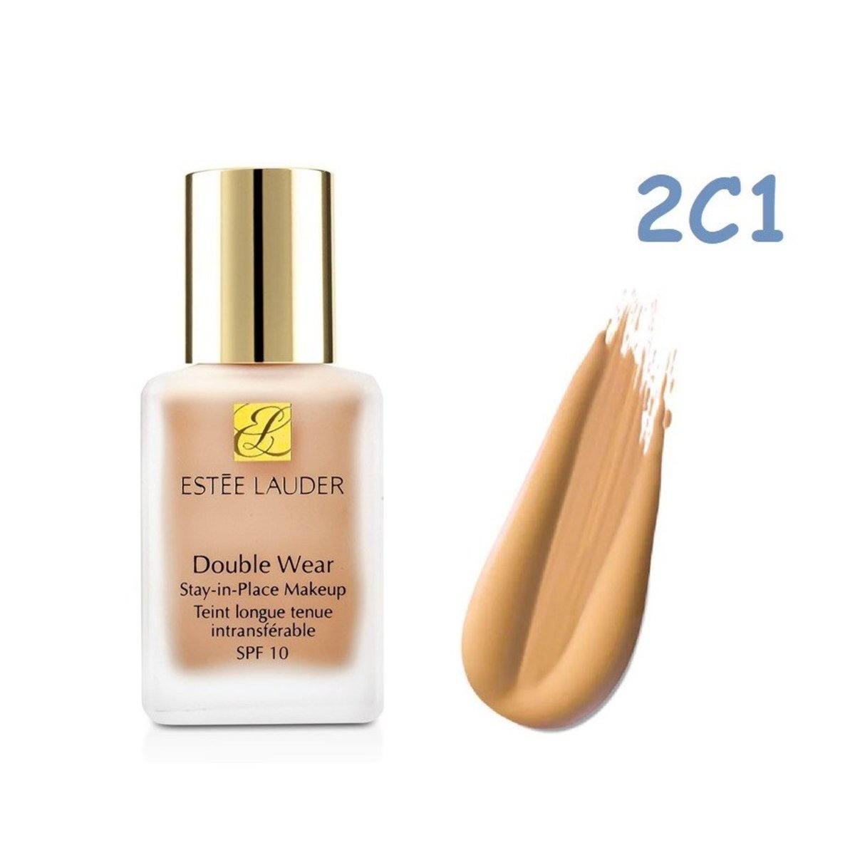Estee Lauder Double Wear Stay-In-Place Makeup SPF 10 Foundation30ml Pure Beige #2C1 30ml(Parallel Import) (027131934998 )