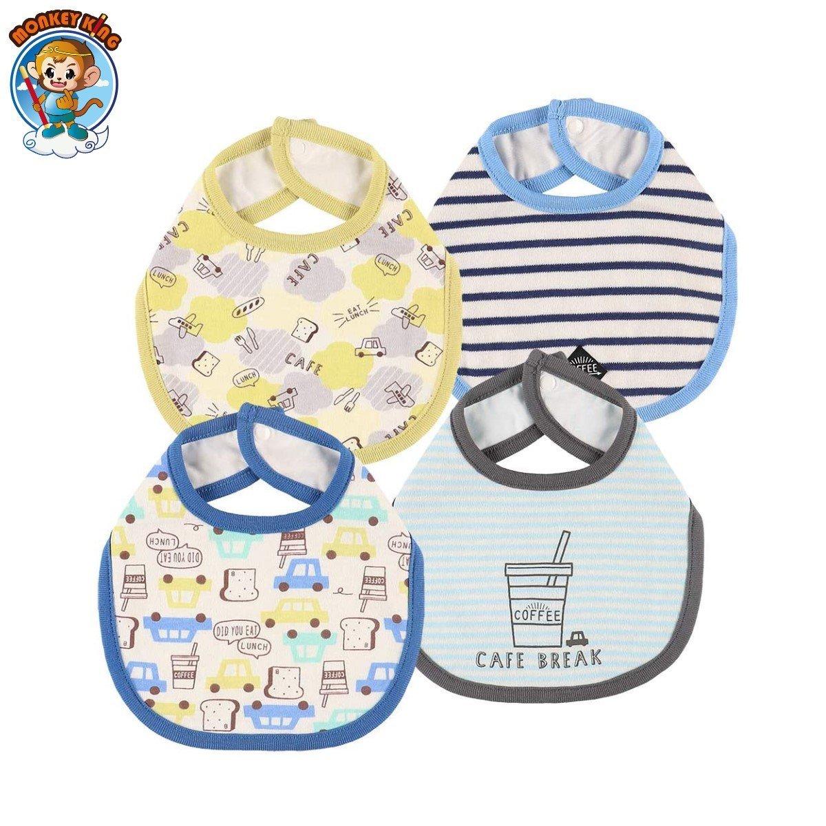 Baby Bib/Muslin (4-Pack) - Bread//Flower