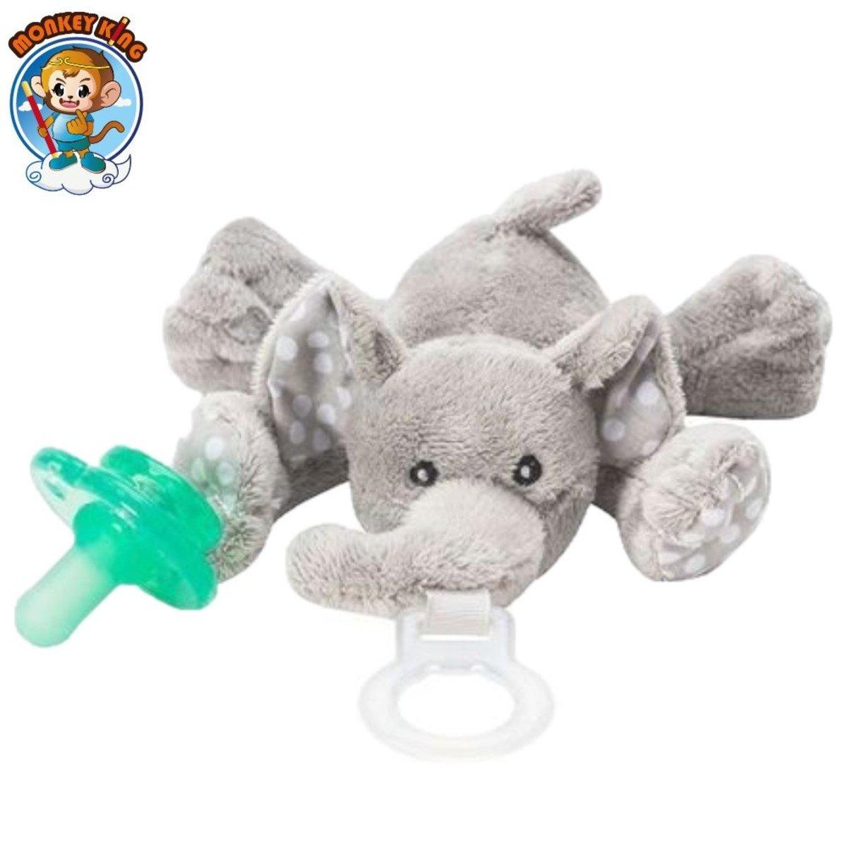 Paci-Plushies Buddies Pacifier Holder - Elephant