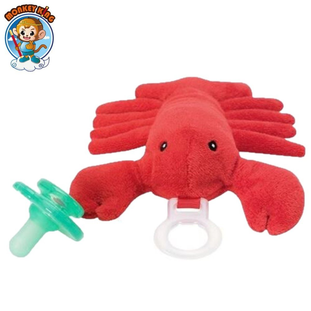 Paci-Plushies Buddies Pacifier Holder - Red Crab