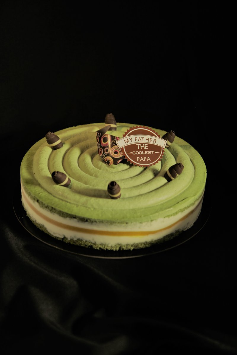 1 Unit - (Father's Day Special) Matcha & Mango Sensation Cake (8'',~2lbs, Reserve 3 Days in advance)
