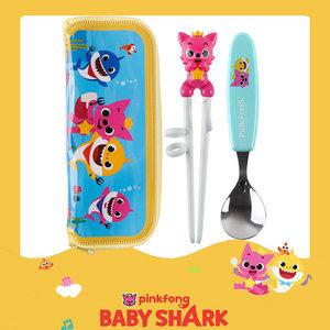 Pinkfong 碰碰狐筷子餐匙連袋套裝 <80208> | 兒童餐具 | 餐具| Babyshark