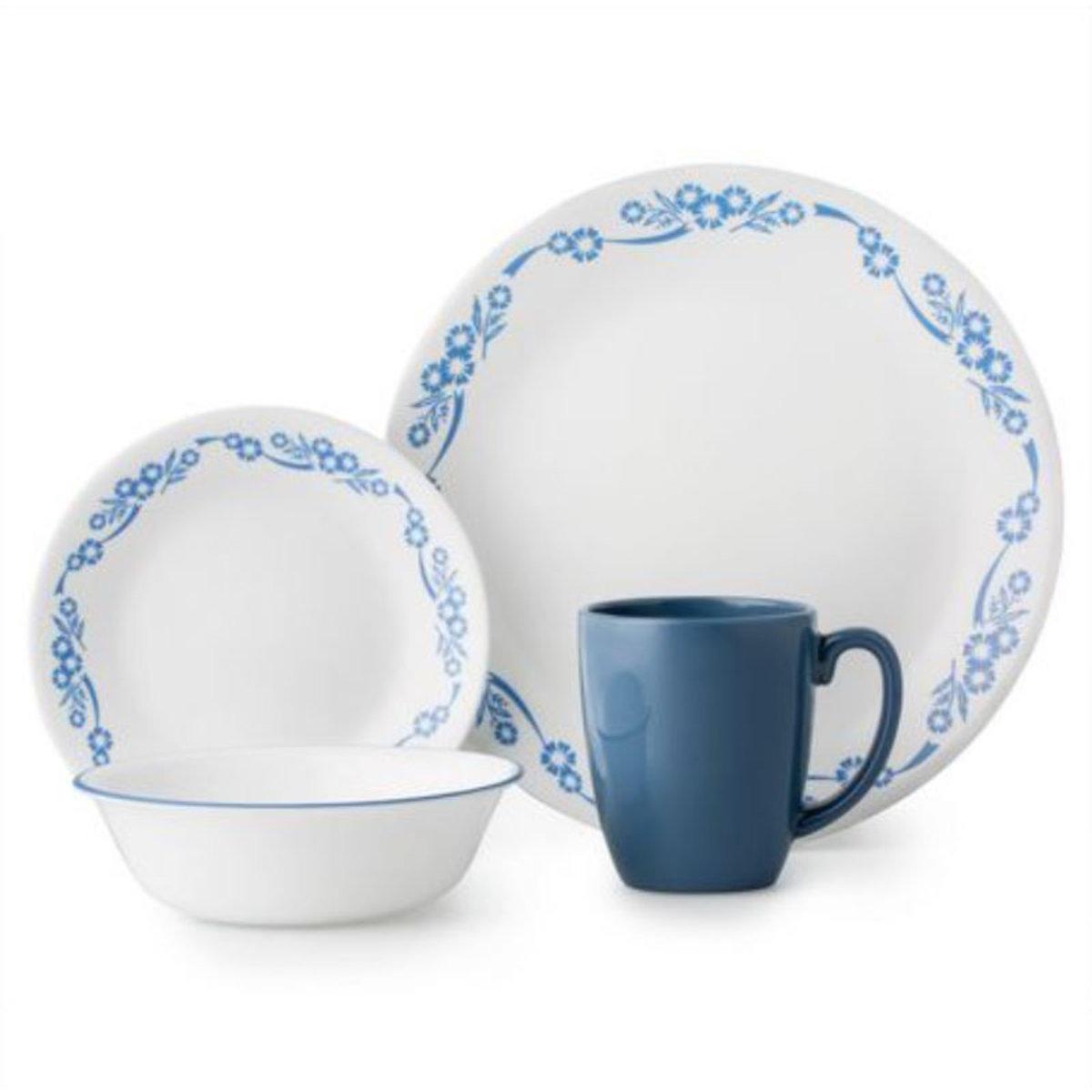 16-pc Dinnerware Set - Cornflower (Parallel Import goods)