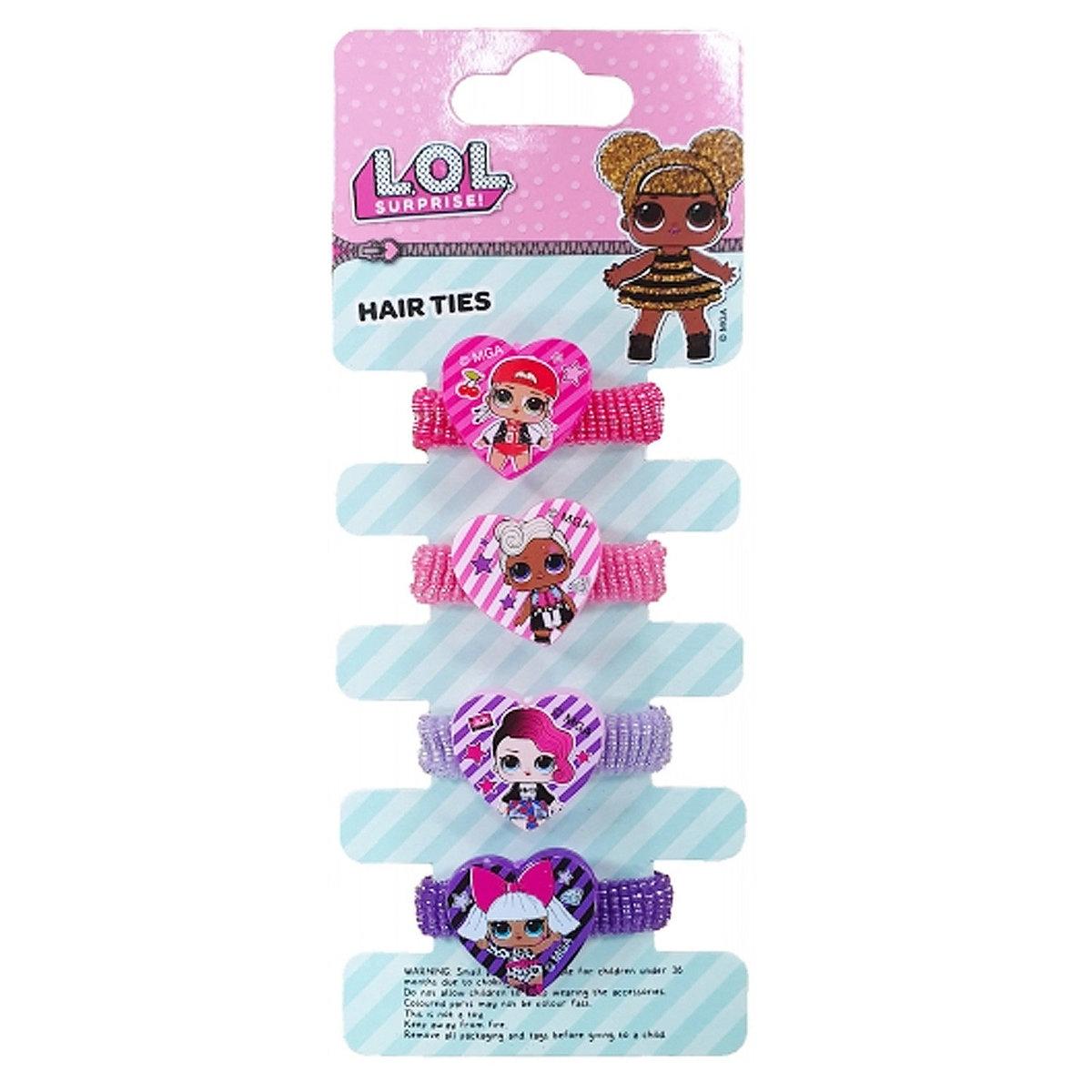 L.O.L. Surprise Elastic Hair Band 4pcs (parallel)