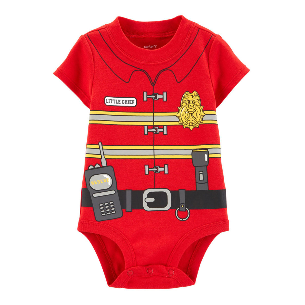 Fireman Costume Baby Collectible Bodysuit 9-18 months (parallel)