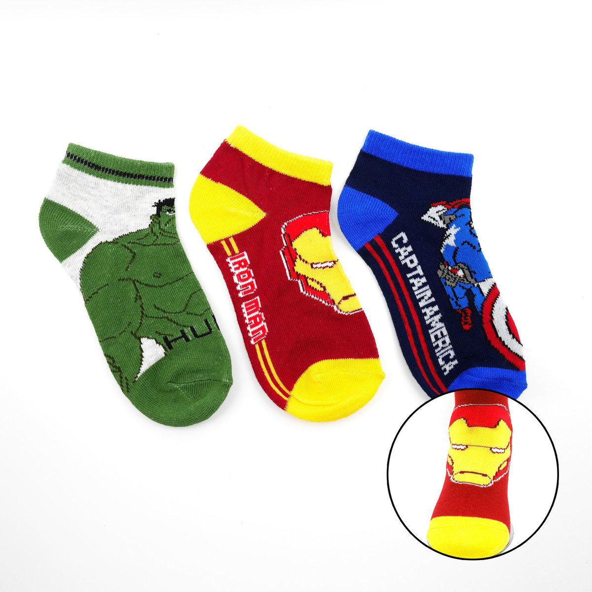 Avengers short socks 3 pairs (23-34) (parallel)