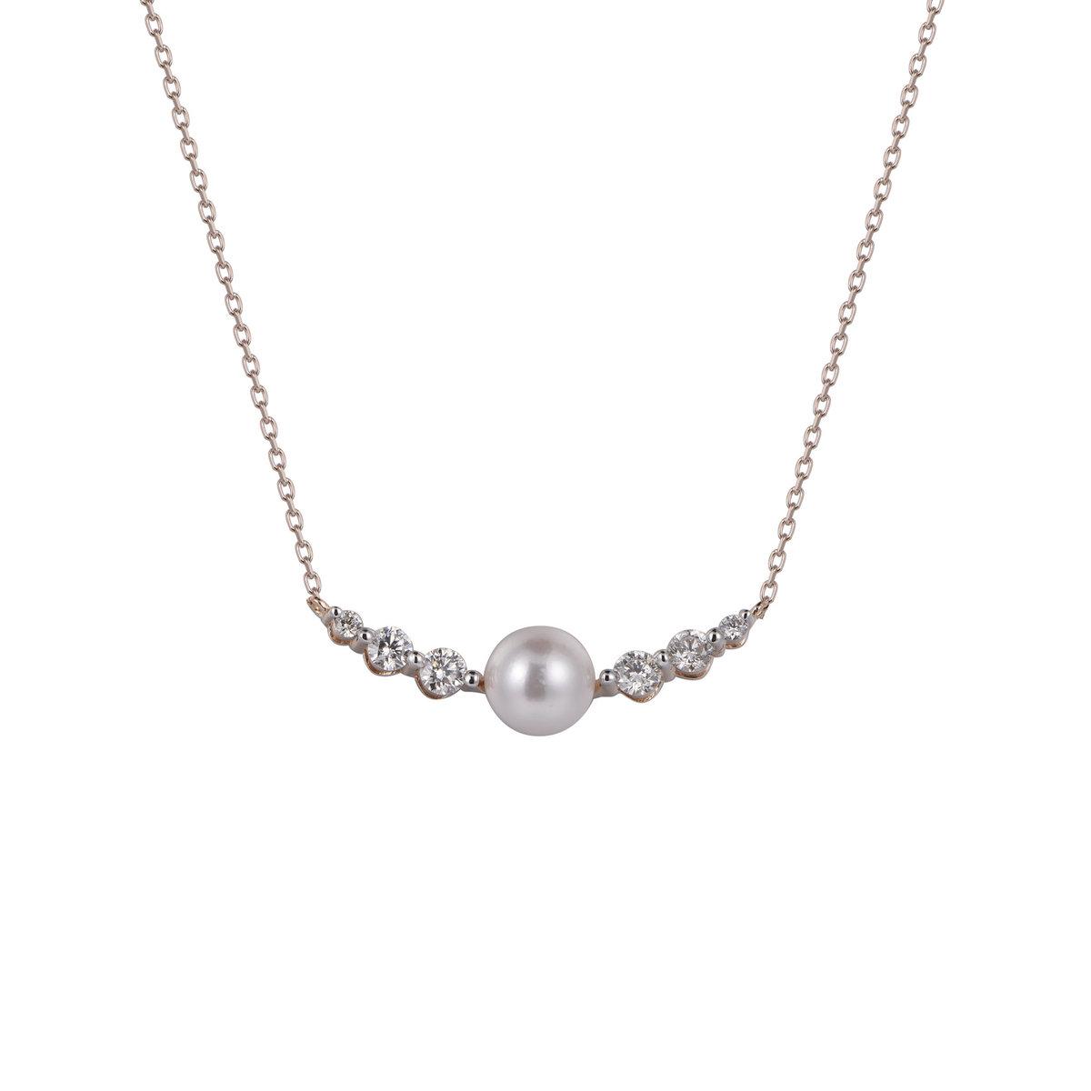 Akoya Pearl Diamond Necklace
