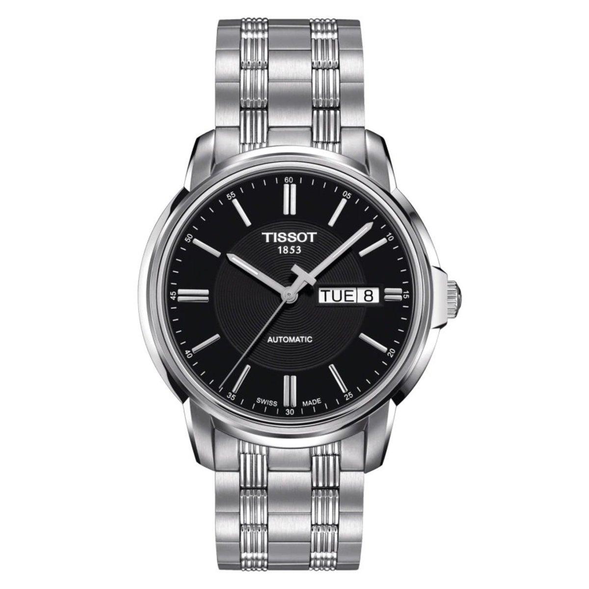 TISSOT T-Class Automatics III Men's Steel Watch - Black (parallel goods)