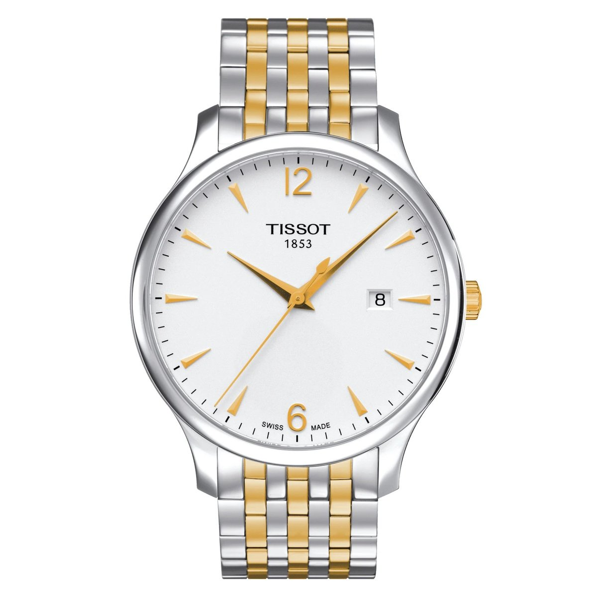 TISSOT T-Class Tradition Men's Glod Steel Watch - Sliver (parallel goods)