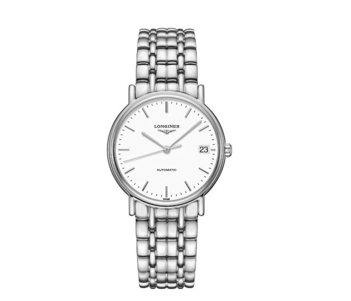 Longines - Presence Automatic Ladie's Steel Watch - White (parallel goods)