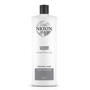 Nioxin 1號防脫髮洗髮露Cleanser Shampoo(纖細、中至稀疏髮量)1L(送泵) 1000ml