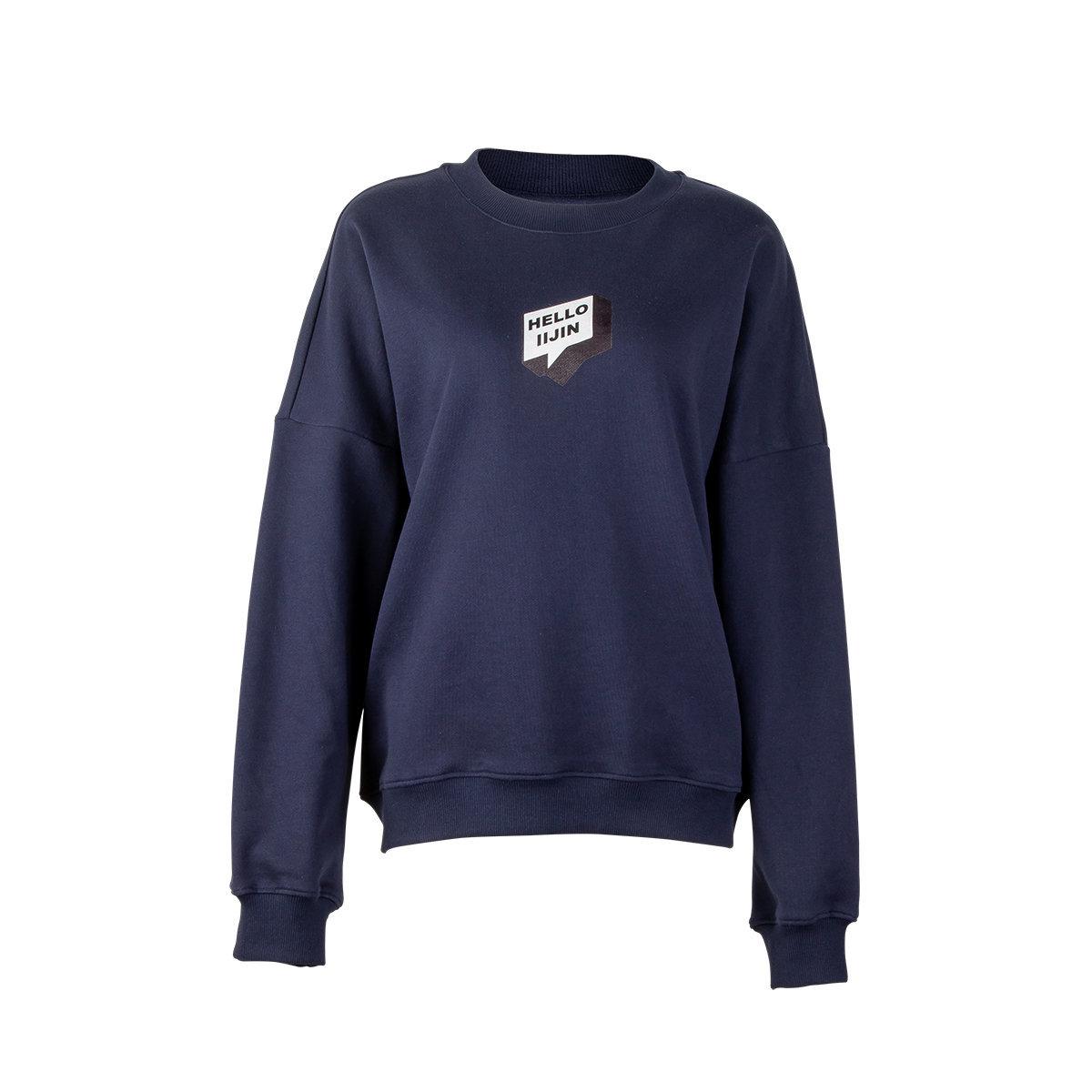 Hello IIJIN Navy Drop Shoulder Sweatshirt
