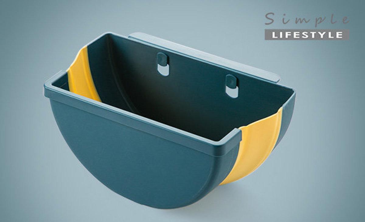 掛式折疊垃圾桶 - 藍色