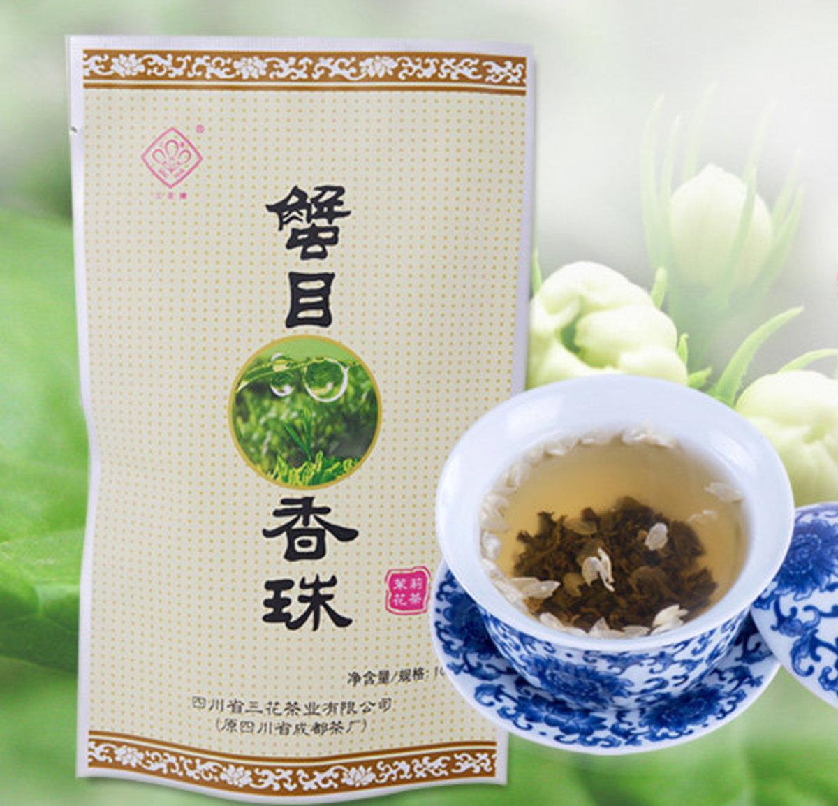 蟹目香珠茉莉花茶 - 100克 (可製作冰茶)
