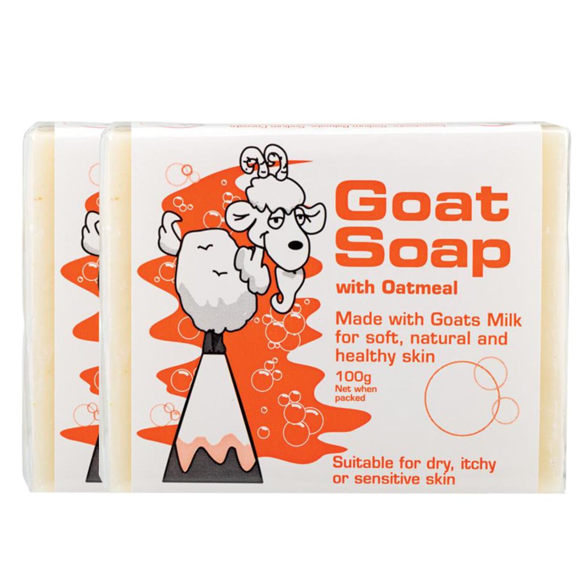 Goat Soap 澳洲純羊奶皂 - 燕麥(2件裝) (平行進口)