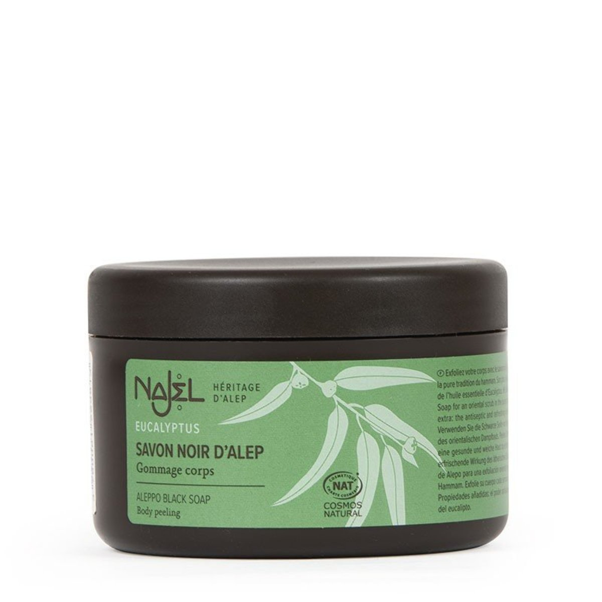 Najel Black Aleppo Soap with Eucalyptus