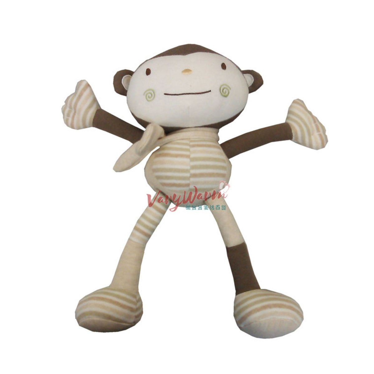 有機棉活動手腳猴子玩具-棕色