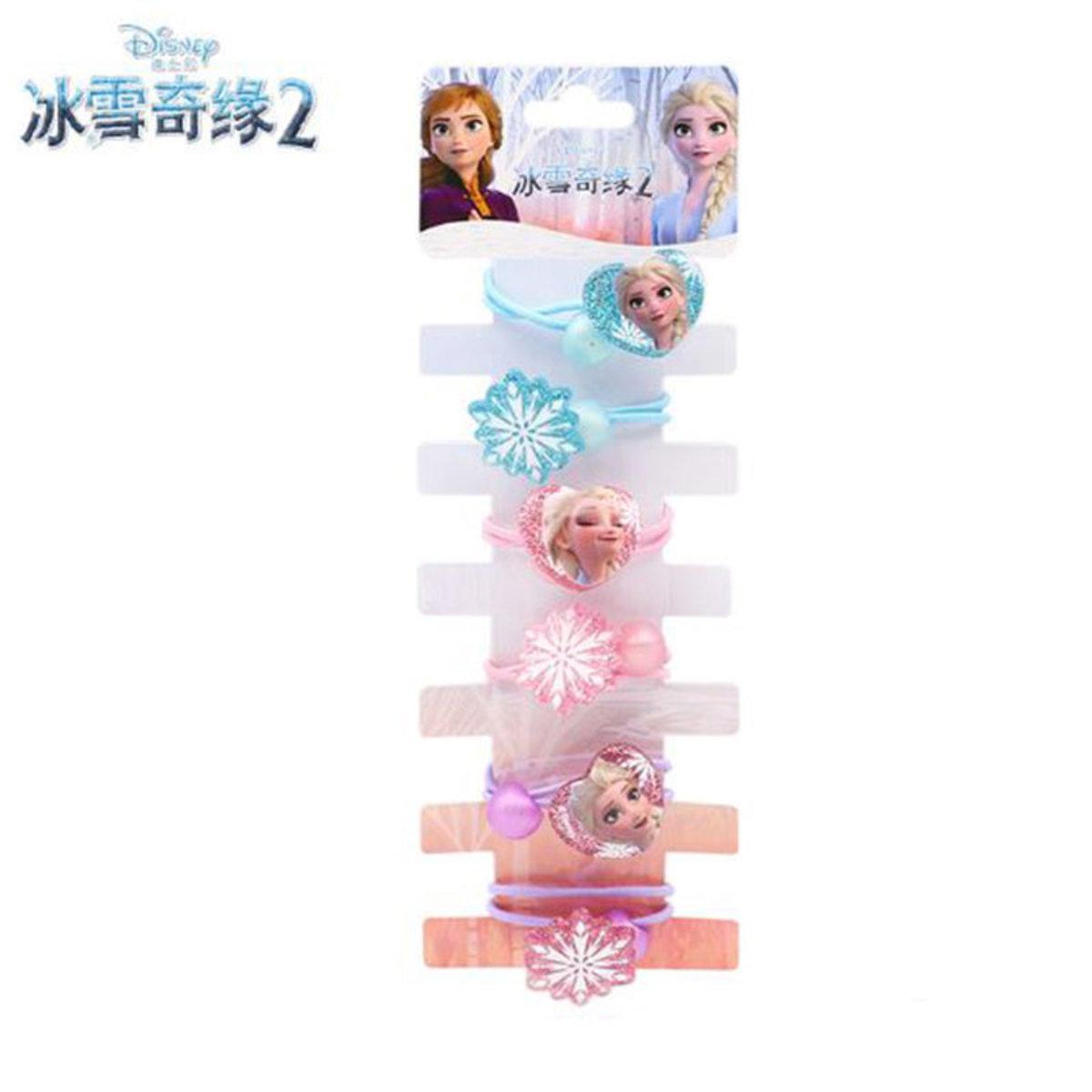 6pcs - Frozen 2 Girls Accessories Hair Tie
