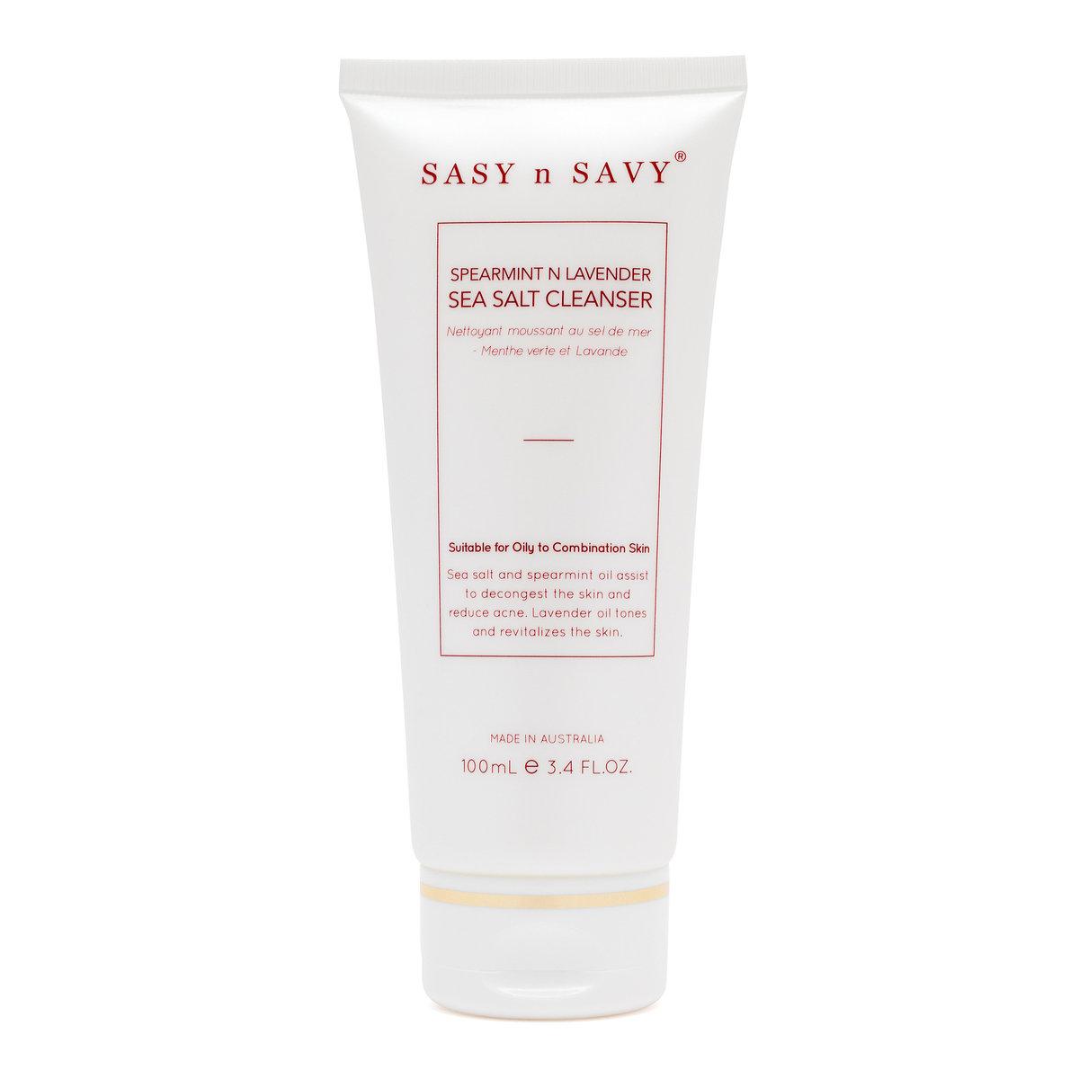 Spearmint n Lavender Sea Salt Foaming Cleanser-Organic & Natural Skincare