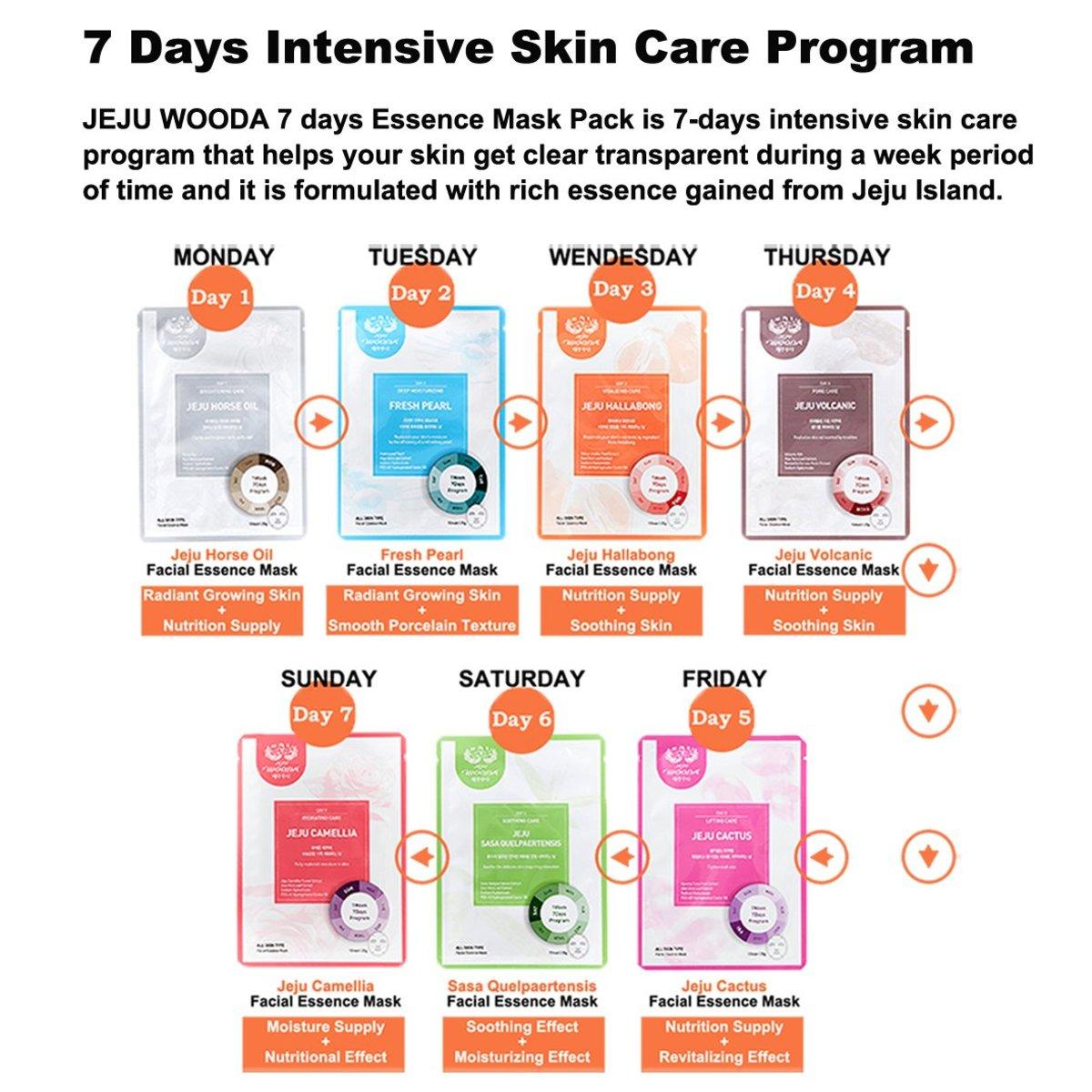 7 Days Treatment Facial Essence Mask