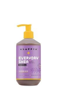 Alaffia 【原裝正貨】每日乳木果 洗手液 - 薰衣草香料, 12盎司/354 毫升