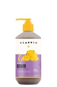 Alaffia 【原裝正貨】兒童 沐浴露和洗髮水 - 檸檬薰衣花草味, 16盎司/476 毫升