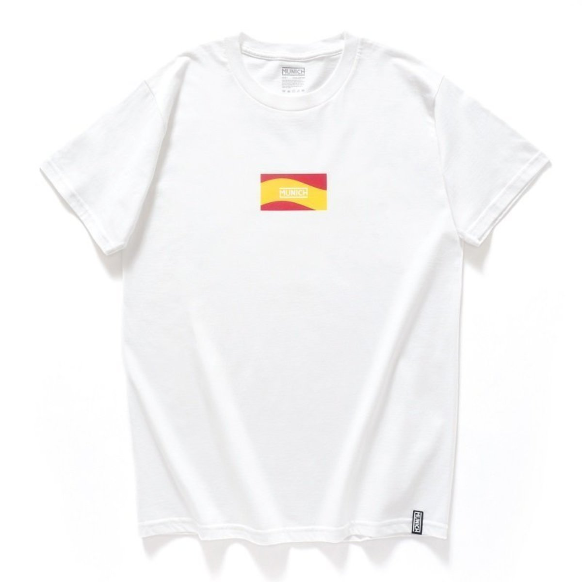 "【Official】- Spain High-density Print Tee, ""Flag"", White (2 Colors Available)"