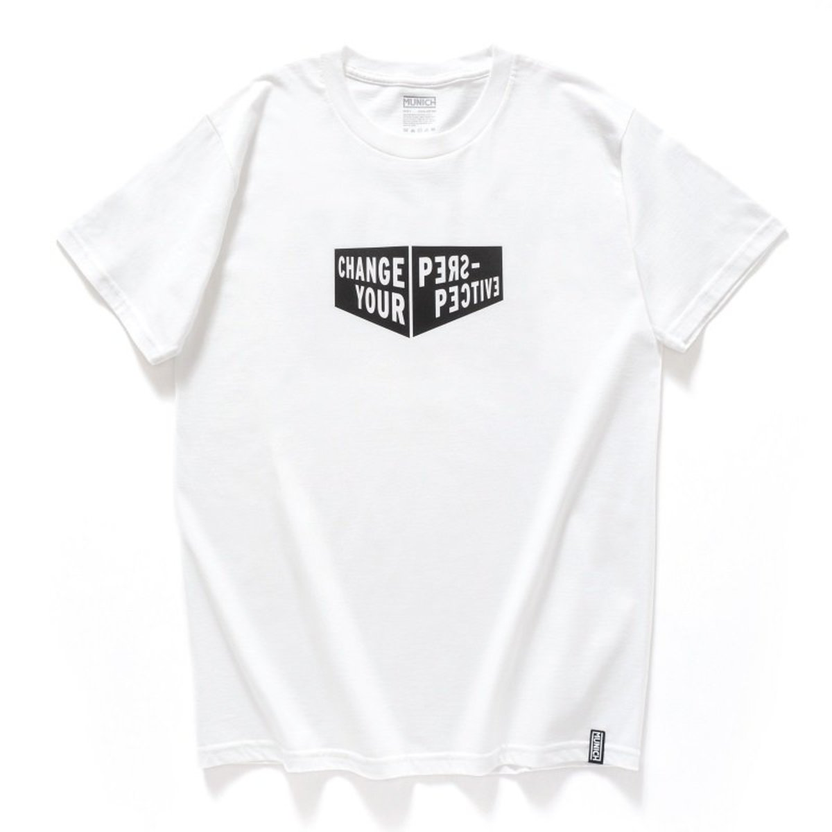 "【Official】- Spain High-density Print Tee, ""Change Your Perspective"", White (2 Colors Available)"
