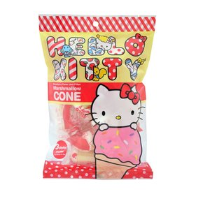 Hello Kitty 【$45 Pick Any 3pcs】Strawberry Flavor Jam Filled Marshmallow Cone 60g