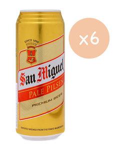 市集啤酒 生力啤酒-  San Miguel -Pale Pilsen Premium Beer  (巨罐裝-6 x 500ml)