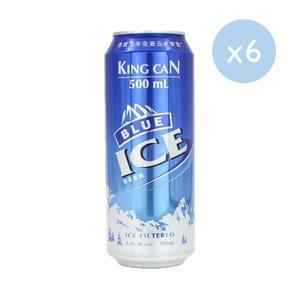 市集啤酒 藍冰啤酒 - Blue Ice Beer**藍色罐**    (巨罐裝-  6 x 500ml)