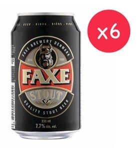 市集啤酒 FAXE STOUT 丹麥牛角黑啤 (罐裝-  6x 330ml )