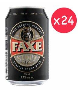 市集啤酒 FAXE STOUT 丹麥牛角黑啤  原箱  (罐裝-  24 x 330ml )