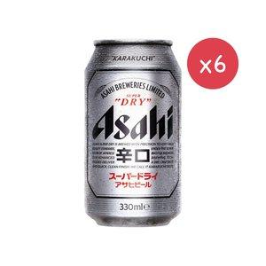市集啤酒 細罐 Ahahi Super Dry beer  朝日啤酒  (細罐裝 - 6 x 330ml)