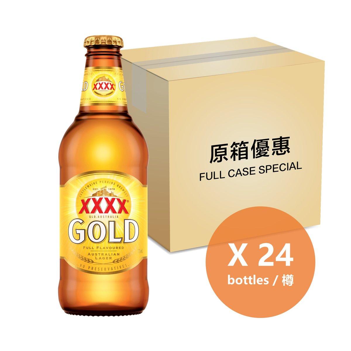 [Full Case] Gold Lager - 375ml Bottle