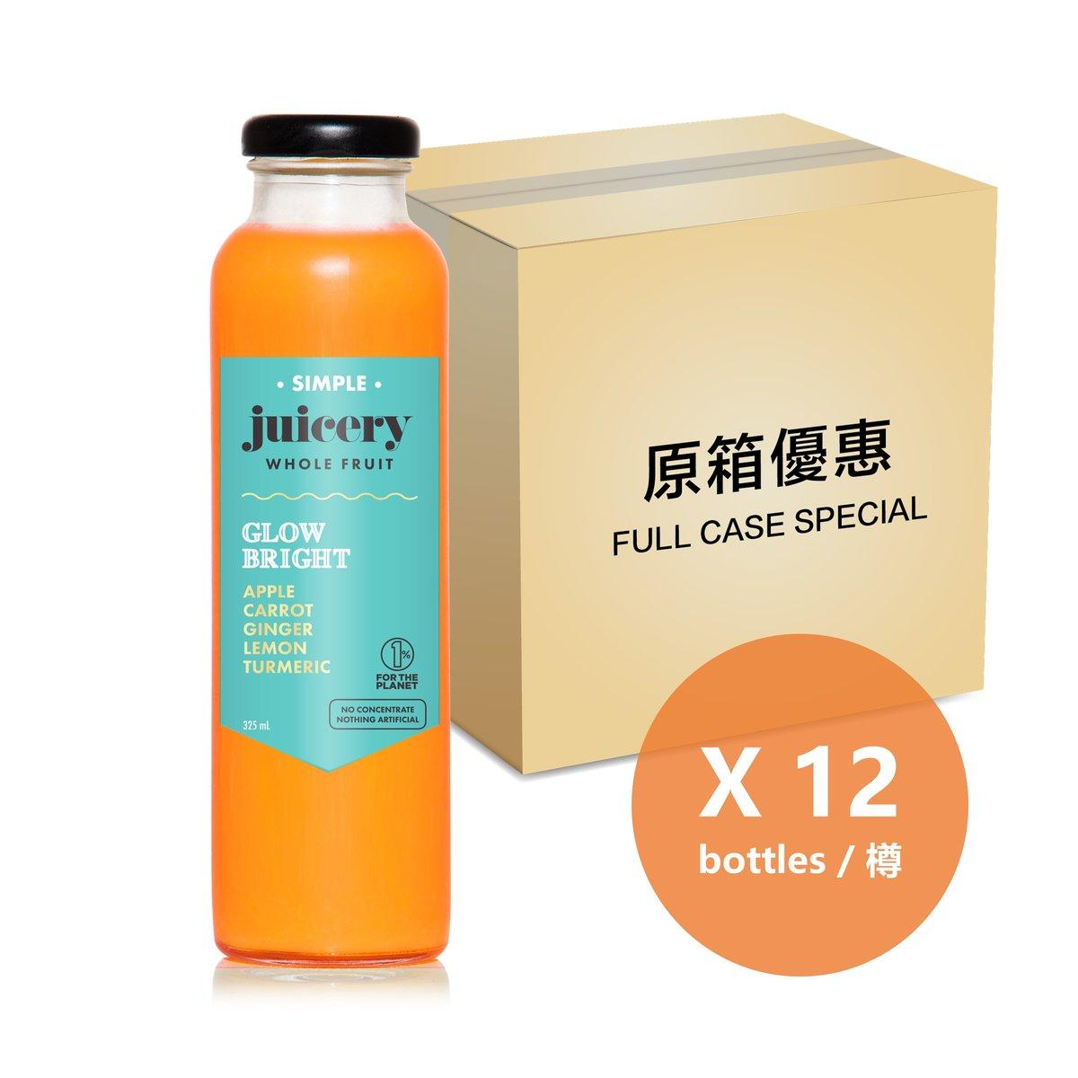 [原箱] 蘋果甘荀薑王果汁 - 325毫升樽裝