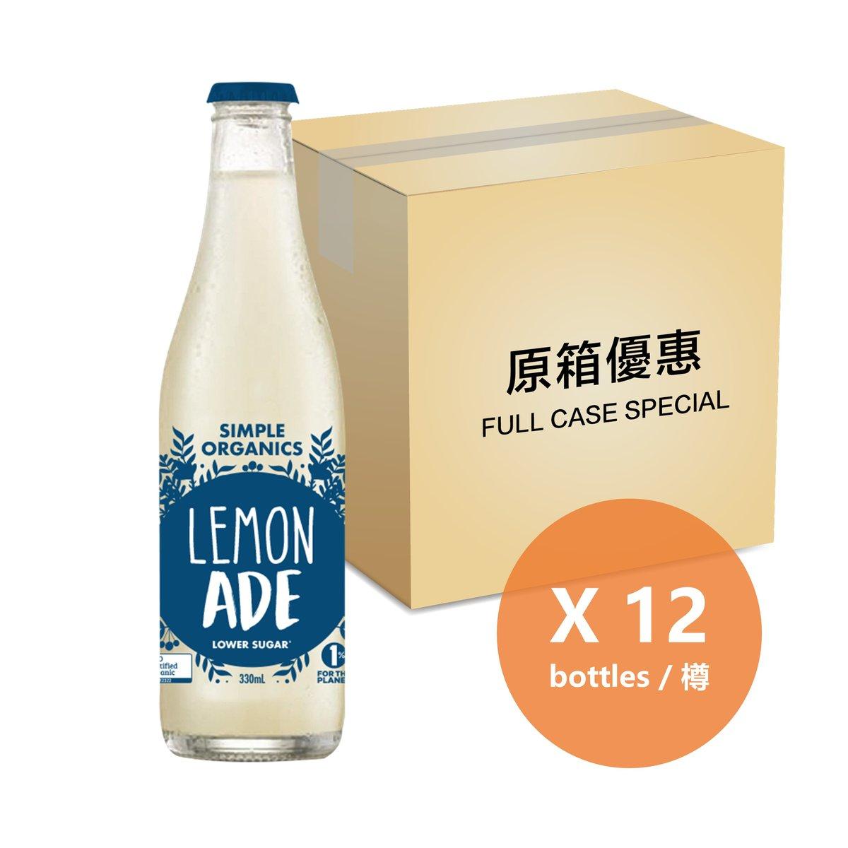[原箱] 有機檸檬梳打 - 325毫升樽裝