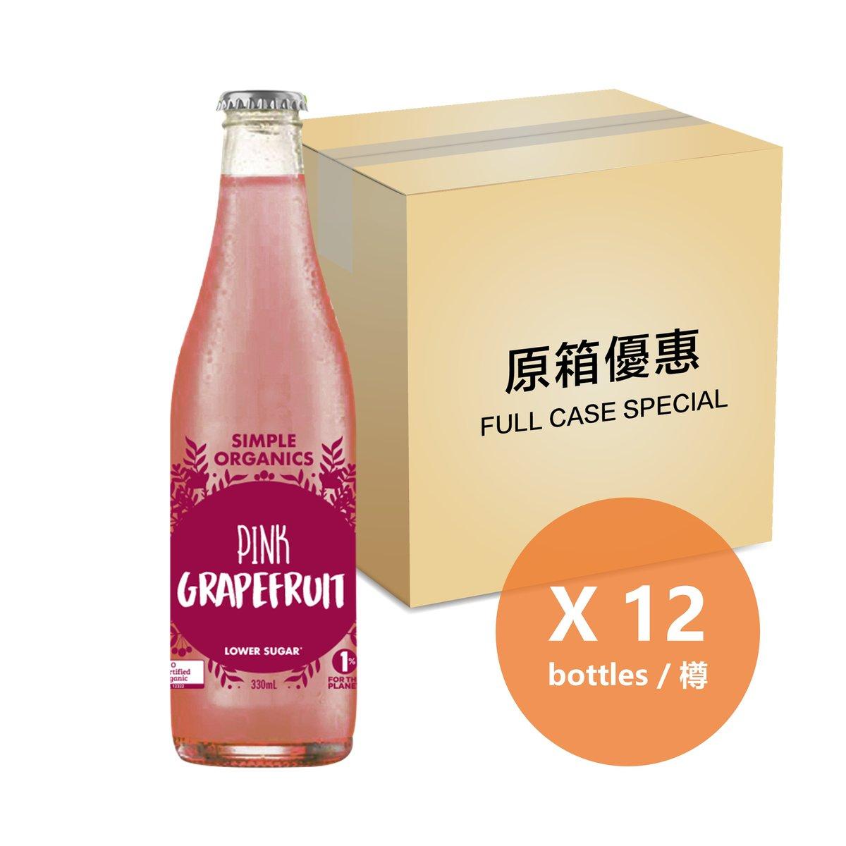 [Full Case] Organic Pink Grapefruit Soda - 325ml Bottle